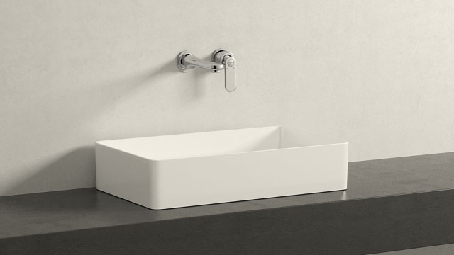 GROHE Veris M-TAILLE + Laufen Living Square