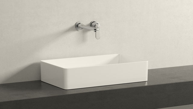 GROHE Veris L-TAILLE + Laufen Living Square