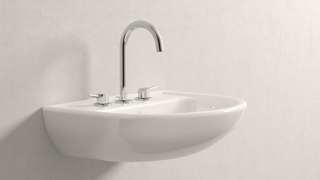 GROHE Concetto L-ГАБАРИТЫ + Laufen Pro B