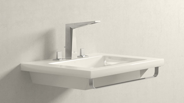 GROHE Allure Brilliant LWIELKOŚĆ + Laufen Living Square