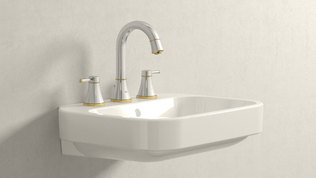 GROHE GRANDERA L-ГАБАРИТЫ + Duravit Happy D.2
