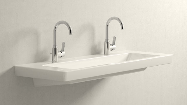 GROHE Eurostyle Cosmopolitan L-ГАБАРИТЫ + Villeroy&Boch Subway 2.0