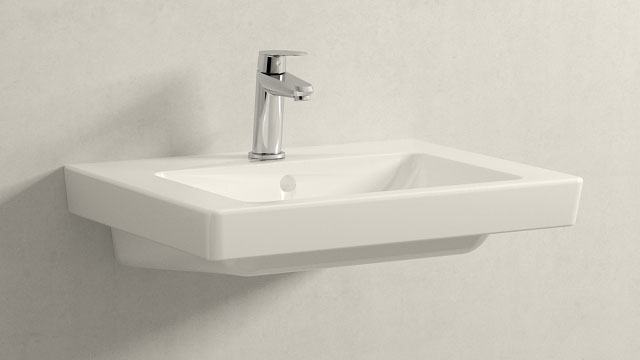 GROHE Eurodisc Cosmopolitan XS-ГАБАРИТЫ + Villeroy&Boch Subway 2.0