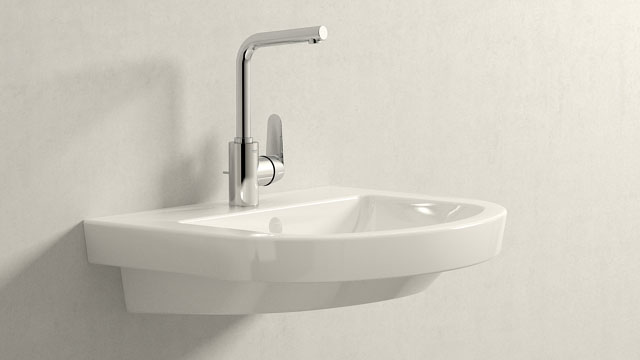 GROHE Eurodisc Cosmopolitan L-ГАБАРИТЫ + Villeroy&Boch Subway 2.0