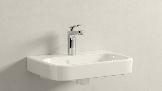 GROHE Veris S-TAMAÑO + Duravit Happy D.2