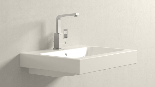 GROHE Eurocube L-TAILLE + Keramag iCon