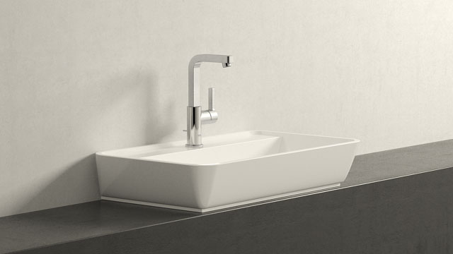 GROHE LINEARE L-VELIKOST + Burgbad Bel