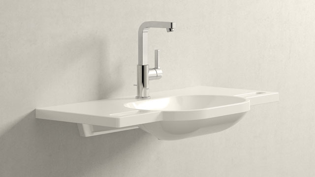 GROHE LINEARE L-SIZE + HEWI Waschtisch