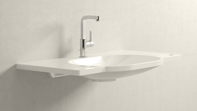 GROHE LINEARE L-VELIKOST + HEWI Waschtisch