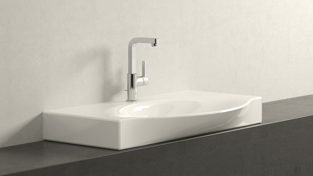 GROHE LINEARE L-VELIKOST + Laufen Palace