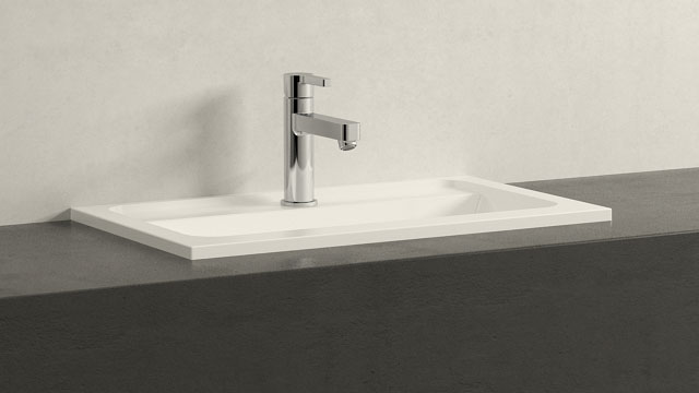GROHE LINEARE M-VELIKOST + Burgbad Bel