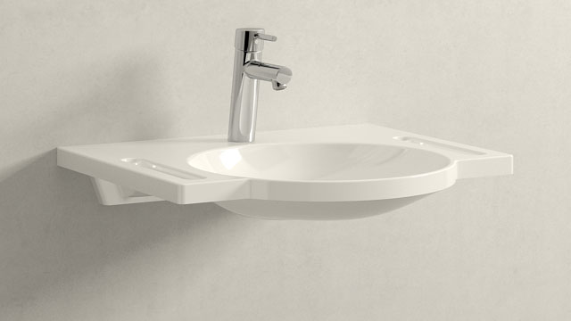 GROHE Concetto M-ГАБАРИТЫ + HEWI Waschtisch