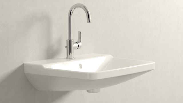 GROHE Eurosmart NEW L-TAILLE + Duravit P3 Comforts
