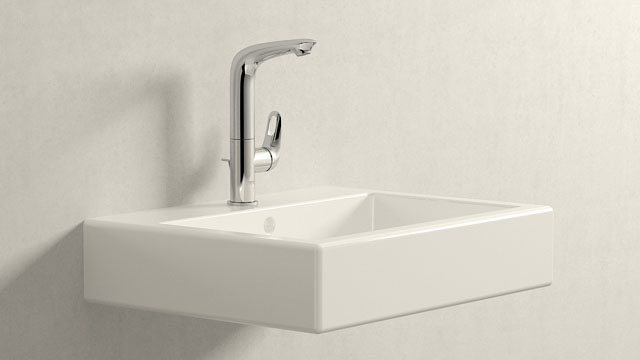 GROHE Eurostyle L-TAILLE + Duravit Vero