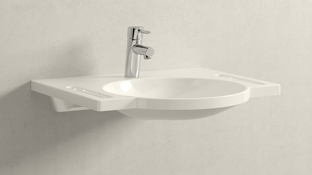 GROHE Concetto S-TAILLE + HEWI Waschtisch