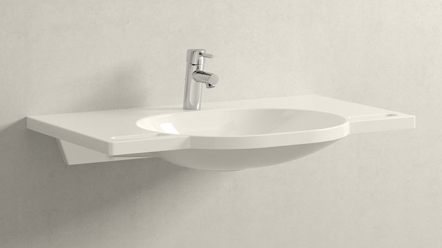 GROHE Concetto S-ГАБАРИТЫ + HEWI Waschtisch