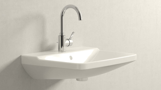 GROHE Eurosmart Cosmopolitan L-TAILLE + Duravit P3 Comforts