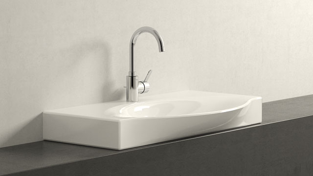 GROHE Eurosmart Cosmopolitan L-TAILLE + Laufen Palace