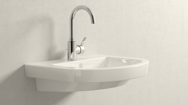 GROHE Eurosmart Cosmopolitan L-TAILLE + Villeroy&Boch Subway 2.0