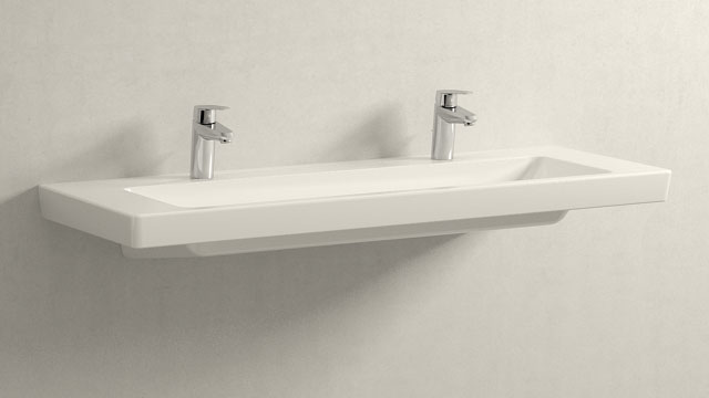 GROHE Eurodisc Cosmopolitan S-ГАБАРИТЫ + Villeroy&Boch Subway 2.0
